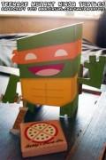 Игрушки и фигурки TMNT общая тема  - Бумажный Майк.jpg