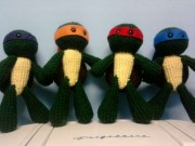 Игрушки и фигурки TMNT общая тема  - Черепашки-амигуруми.jpg