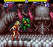 Teenage Mutant Ninja Turtles: Tournament Fighters SEGA  - Эйприл против Лео.jpg