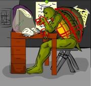 TMNT рисунки от Suavis Virus - Hush_Donnies_sleeping.jpg