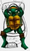 TMNT рисунки от Suavis Virus - Mikey_sketch_clrd.jpg