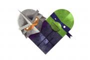 Зарубежный Фан-Арт - Shredder & Leonardo by Twistedfork.jpg