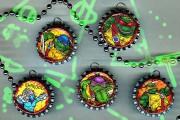 Изображения TMNT, их символика и т.п. на различных предметах - Крышечки от бутылок с Черепашками.jpg