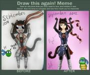 TMNT рисунки от Teenage Kat - meme__draw_this_again_2_by_kawaiipandah-d4wvphn.jpg