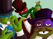 Зарубежный Фан-Арт - tmnt__top_hats_moustache_and_monocle_by_loolaa.jpg