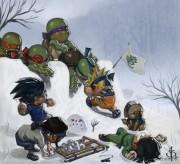 Приколы над ТMNТ - 1350893427_825x750_7165_super_ninja_fight_2d_fan_art_turtles_children_snow_picture_image_digital_art.jpg
