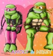 Зарубежный Фан-Арт - amoly_and_mikey_color_by_propimol-d2ykgur.jpg