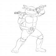 TMNT рисунки от Michelangelo - Mike_nunchaku1.jpg