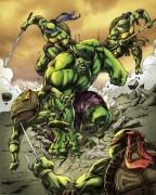 Зарубежный Фан-Арт - TMNT vs Hulk.jpg