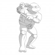TMNT рисунки от Michelangelo - Mike_nunchaku3_shade.jpg