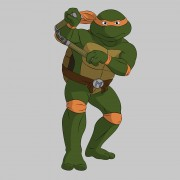 TMNT рисунки от Michelangelo - Mike_nunchaku3_coloured.jpg
