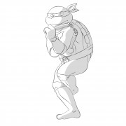 TMNT рисунки от Michelangelo - Mike_nunchaku4_shade.jpg