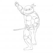 TMNT рисунки от Michelangelo - Leo_katana_1.jpg