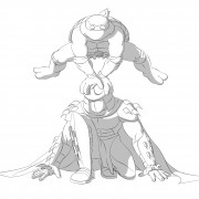 TMNT рисунки от Michelangelo - Mike_jump_shade.jpg