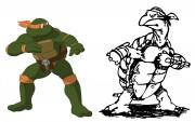 TMNT рисунки от Michelangelo - Mike_Laird_coloured.jpg