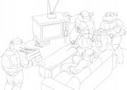 TMNT рисунки от Michelangelo - Party.jpg