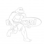 TMNT рисунки от Michelangelo - Radical_dude.jpg