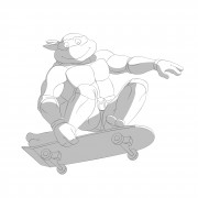 TMNT рисунки от Michelangelo - Mike_skateboard_shade.jpg