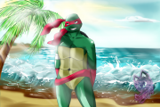 TMNT рисунки от Нейлы - happy_birthday__filena__by_neyla_the_lioness-d6bbcdp.png