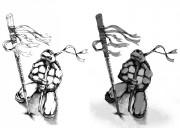 TMNT рисунки от Van :  - 2013.11.12_Donatello_B_W.jpg