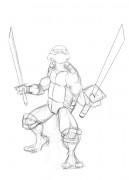 TMNT рисунки от Van :  - Leo_sketch_00.jpg