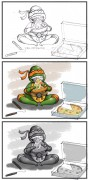 TMNT рисунки от Van :  - Mikey_03.jpg