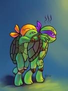 TMNT рисунки от Kataoko - Майк и Донниjpg.jpg