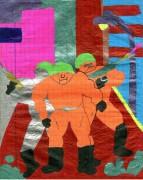 TMNT рисунки от Nadejda - Черепашки и малышка.jpg
