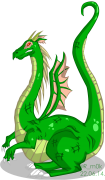 Капля искусства - Green-Dragon-Red-Eyed-by-R-mok.png