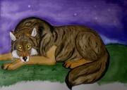 Волк-сказочник завораживающий образ зверя,который может поведать о самых необычных сказках на ночь.  - VYMfjvml24w.jpg