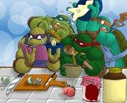 Зарубежный Фан-Арт - черепашки на кухне.jpg