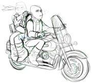 TMNT рисунки от Rurim - on the way to highschool.jpg