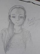 Неизвестная девочка, просто попросили нарисовать ее. Не уверена, что даже сам проситель в курсе этой работы^^  - DSCN4232.JPG