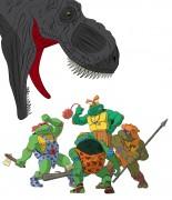 TMNT рисунки от Michelangelo - Turtlestones_t-rex.jpg