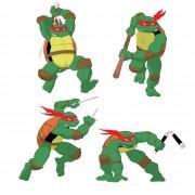 TMNT рисунки от Michelangelo - Turtles_mirage_coloured.jpg