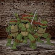 TMNT рисунки от Michelangelo - turtles_wall_colored1.jpg