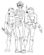 TMNT рисунки от Alexiel - alukard_with_turtles_by_alexiel.png