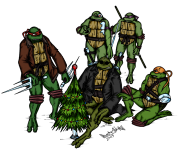 TMNT рисунки от Demon-Alukard а - SaiNW_X-Mas_2009_by_Demon-Alukard.png