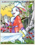 Зарубежный Фан-Арт - Jotaru_Rabbit_Samurai_Warrior_by_alaer.png