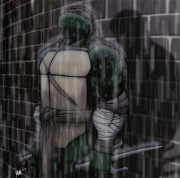 Зарубежный Фан-Арт - MNT_Gaiden___Raphael_in_rain_by_Tigerfog.jpg