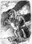 TMNT рисунки от Махайрод - Копия Лео на коне рассылка.jpg