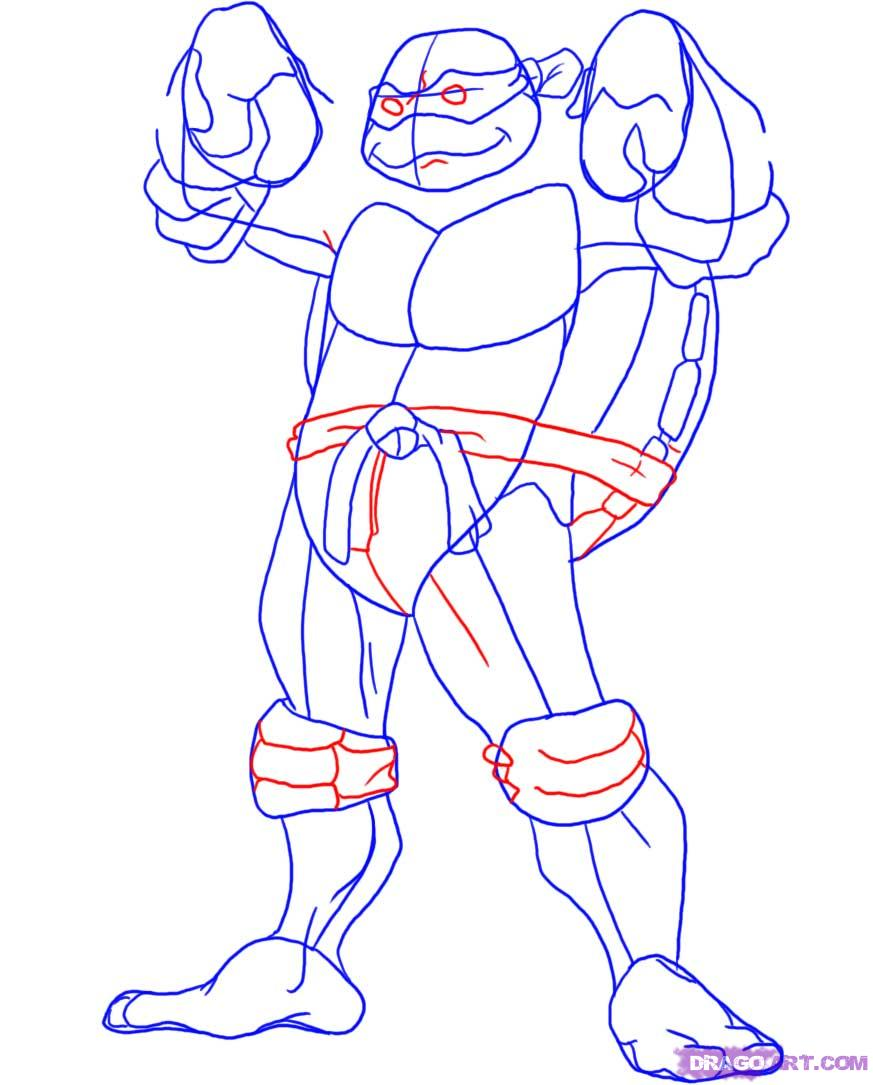 How to draw Donatello from TMNT (4)