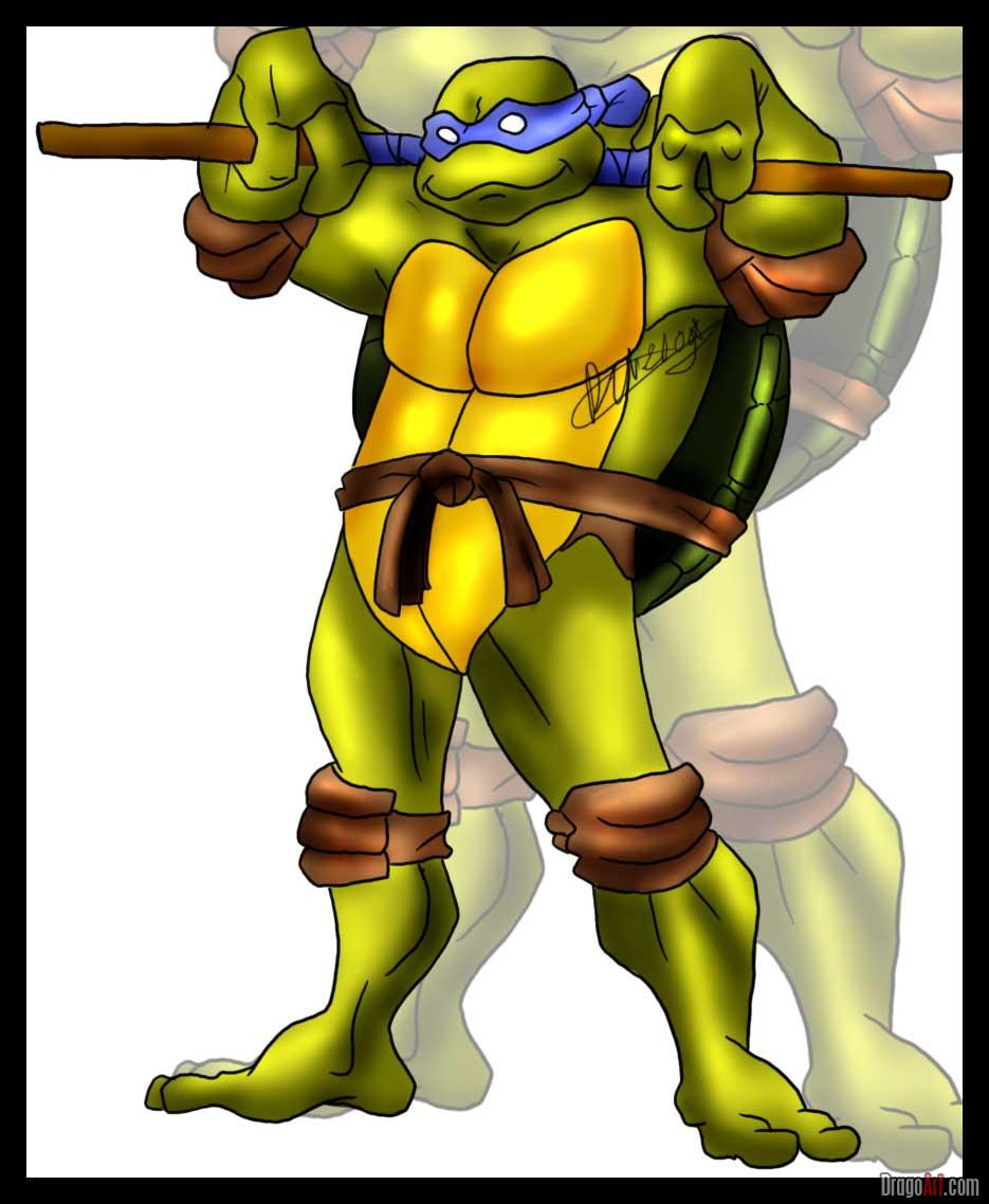 How to draw Donatello from TMNT (7)