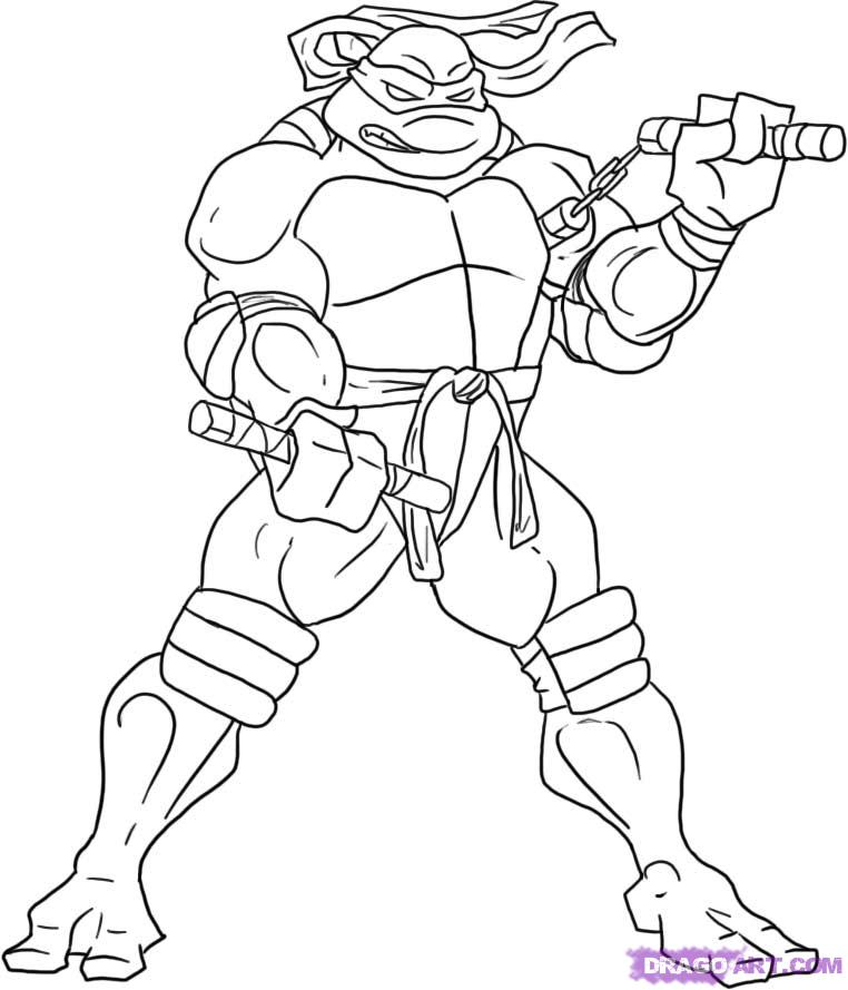 How to draw Michaelangelo from TMNT (5)