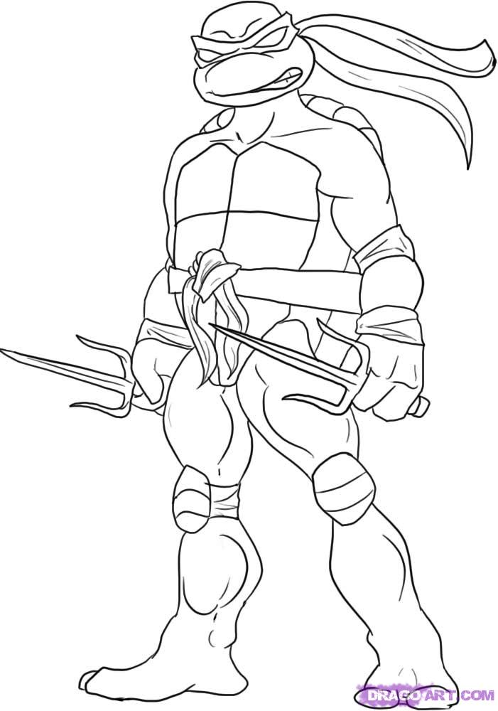 How to draw Raphael from TMNT (5)