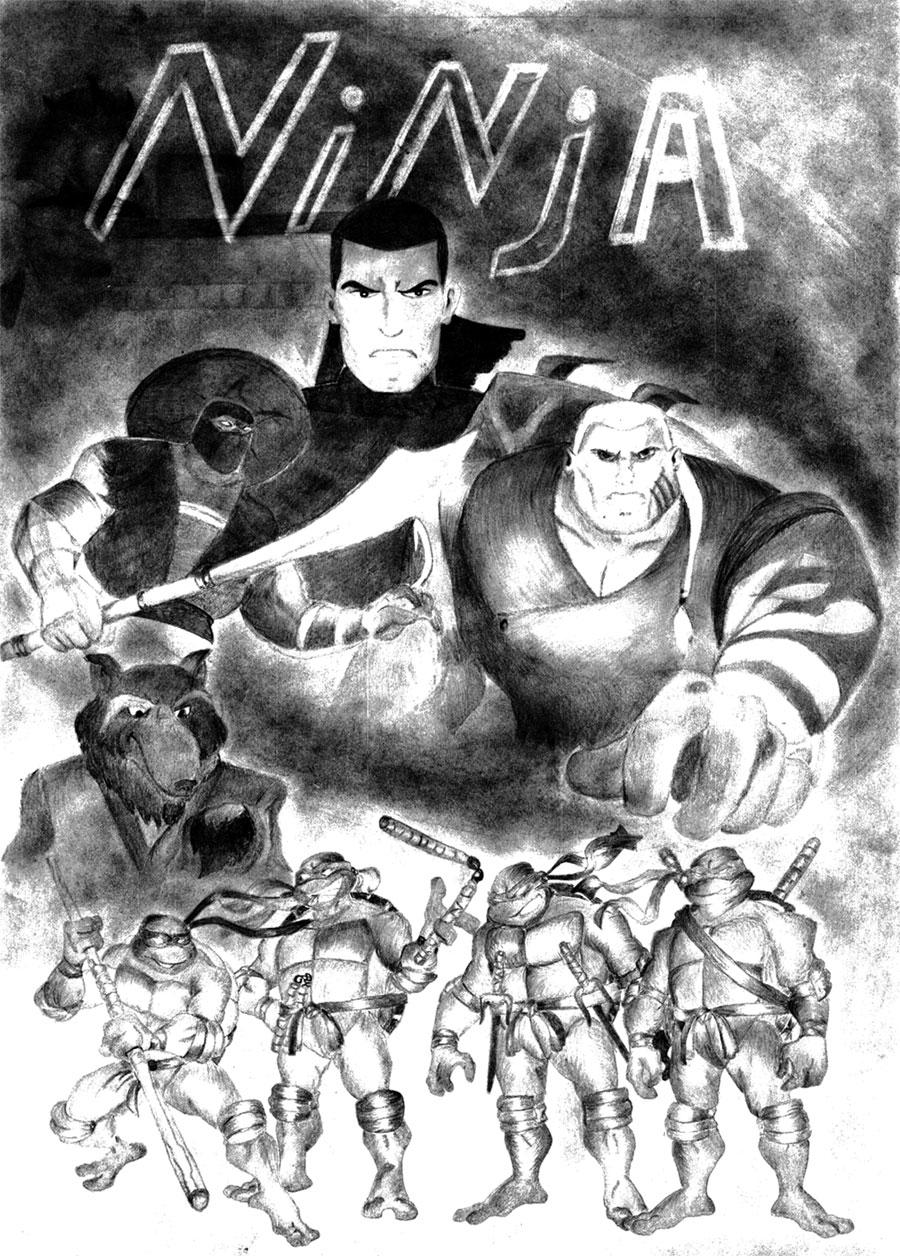 Oroku Saki, Foot Elite, Han, Splinter, TMNT (by Ulia, Ulianovsk)