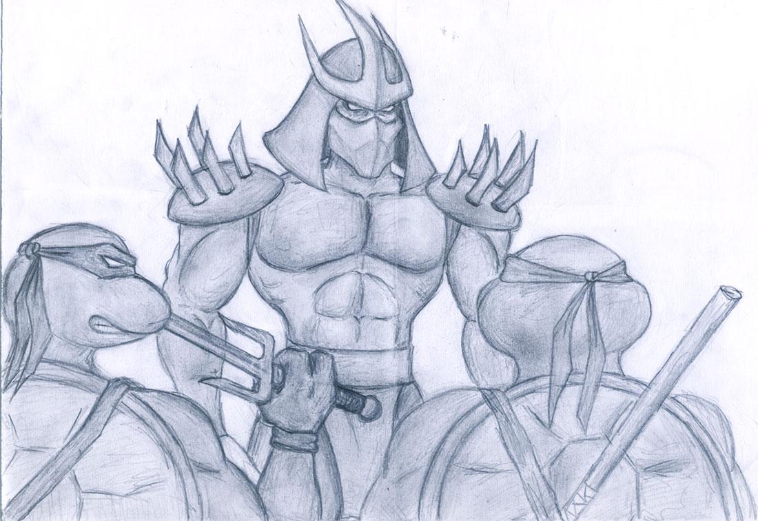 Raphael, Shredder, Donatello (by Andrew, Pskov)