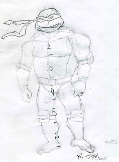 How to draw Ninja Turtle (1)
