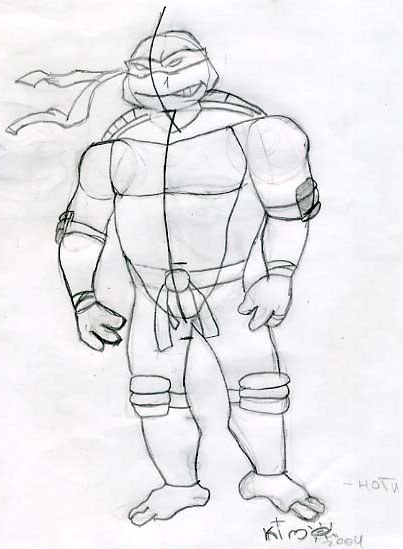 How to draw Ninja Turtle (4)