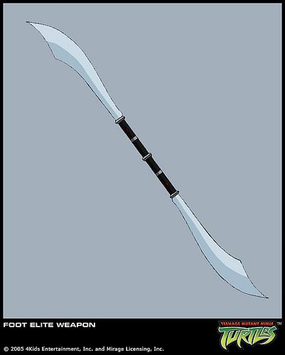 Foot Elite's twin bladed sword